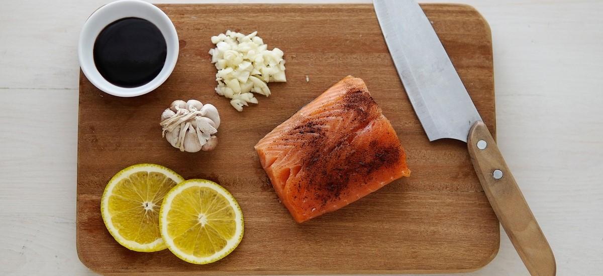 Baked Mustard Glazed Salmon